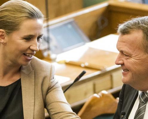 Ny måling vækker opsigt: Løkke og Mette F. er for første gang næsten helt lige