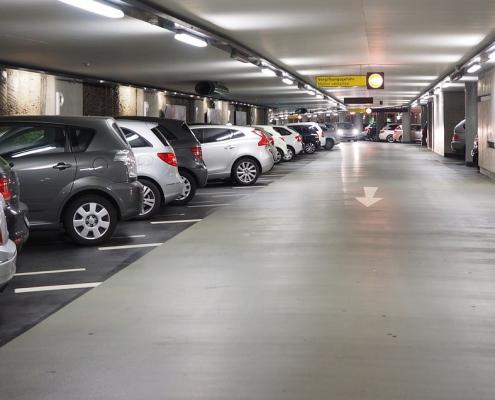 Tysk parkeringsplads