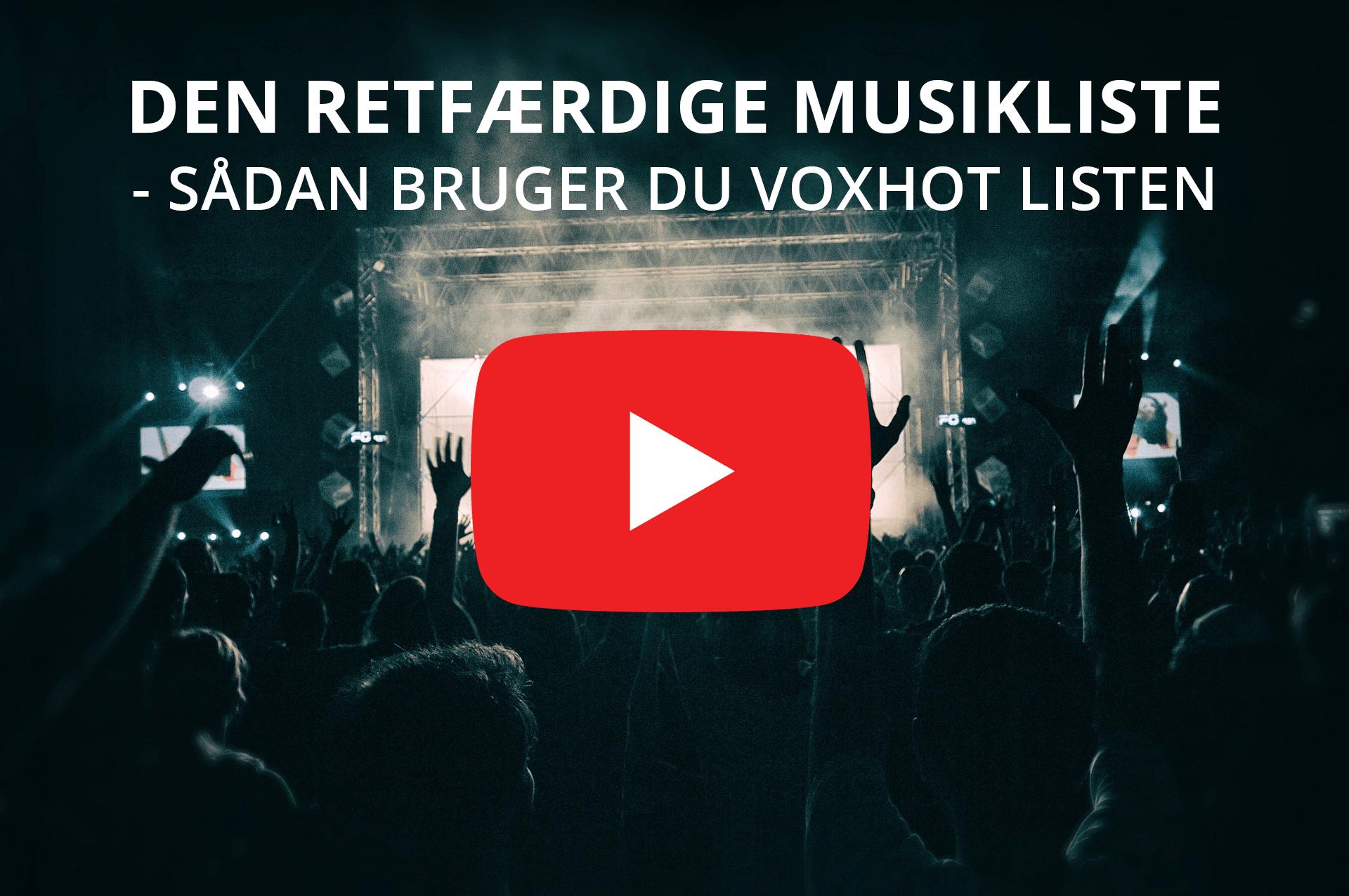 Bliv vist på VoxHot-listen