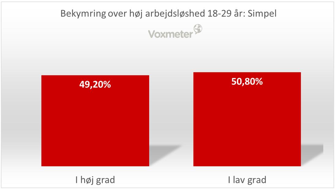 Bekymring over høj arbejdsløshed 18-29 år: simple